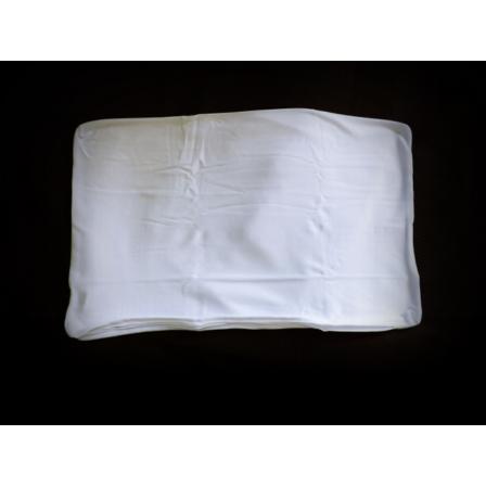 Utazó párna huzat (100% Pamut Jersey, fehér) 25 x 45 cm